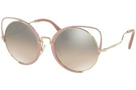 MIU MIU SQENIQUE Antique Glitter Pink Brown/Grey Oversize Sunglasses MU51TS - $176.42