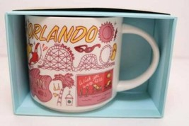 Starbucks Orlando Been There Series Mug Pink City 14oz Handle Cup Parks ... - $28.66