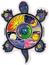 Mosaic Turtle Outside Window Sticker Set   Car Decal  Hippies - $5.49