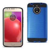 Reiko Motorola Moto E4 Plus Hybrid Metal Brushed Texture Case In Navy - $8.99+