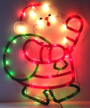 SANTA SILHOUETTE Lighted Christmas Window Decoration Indoor / Outdoor Us... - $14.41
