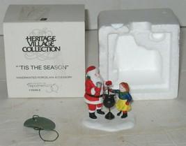 Vtg Department 56 Tis The Season Santa Christmas Heritage Village in Box - $27.72
