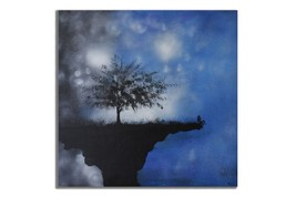 Ansavv On The Edge Multicolor Oil On Canvas Painting - $376.00
