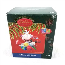 Dora The Explorer Be Merry With Boots Christmas Ornament Carlton Cards 2004 - $14.84