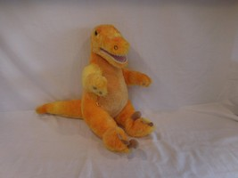"Build a Bear Orange Yellow T-Rex Dinosaur Plush 15"" with Sounds - $19.02"
