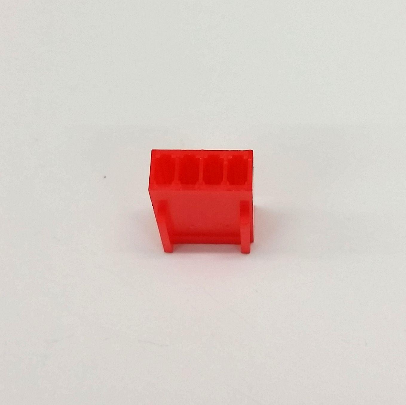 10er Packung - Buchse 4-polig Lüfter Stromanschluss - rot inklusive Pins image 4
