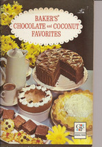 General Foods Bakers Chocolate and Coconut Favorites Paperback Cookbook - $9.80