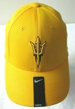 Nike Mens ASU Arizona State University Legacy 91 Swoosh Flex Hat Yellow Maroon - £18.83 GBP