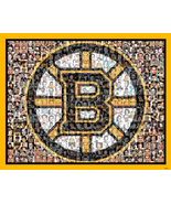 Boston Bruins Mosaic Print Art designed using over 100 of the greatest p... - $40.00+