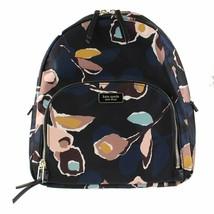 Kate Spade New York Dawn Paper Rose Nylon Medium Backpack in Black Multi - $108.90