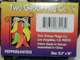 Two Group Flags Co 67013 Peppers Indoor Outdoor Decorative Flag image 4