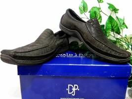 Donald J.Pliner Dark Brown Textured Leather Casual Men Shoes Size EU 46 ... - $102.49