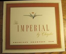 1951 Chrysler Imperial Prestige Brochure, Original 20 pgs - $25.23