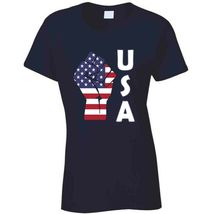 Fight Power Usa Ladies T Shirt image 8