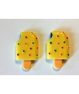 Ice Cream Popsicle on Stick Resin Cabochons or Add Magnet (Set of 2) - $1.29
