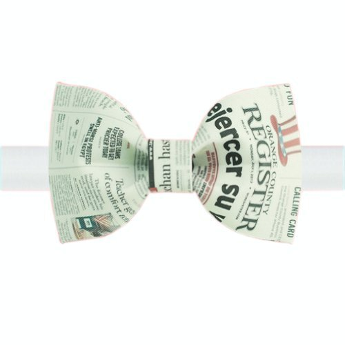 Stylish Bow Tie Newspaper Design Pattern Men Ties Neckties Boys Bow Ties Type D