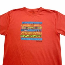 prAna Men's Medium Have Less Do More Be More Short Sleeve Outdoor Red T-... - $19.00