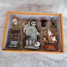 Cemetery Fairy Garden Kit, Miniature Halloween Village Set, Grim Reaper Ghost image 3