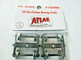 Atlas # 185000 Friction Bearing 50 Ton Trucks 1 Pair  HO Scale image 3