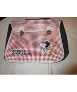"Snoopy , Woodstock , Peanuts, School Bag, ""Snoopy and Friends"" , Vintage... - $59.31"