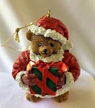 Carlton Christmas Ornament Teddy Bear Santa Carlton Cards AGC Collectible - $14.99