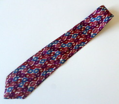 "417 by Van Heusen Men's Neck Tie 100% Silk Blue Orange Red 57"" Long and ... - $12.55"