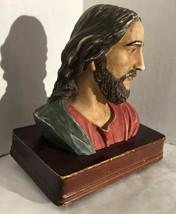 """Jesus Loves Me""  Vintage Resin Jesus Bust Music Box Schmid 1990 - $24.75"