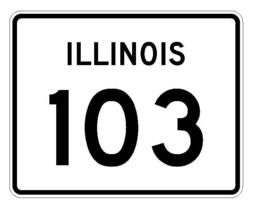 Illinois State Route 103 Sticker R4371 Highway Sign Road Sign Decal - $1.45+