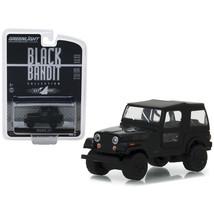1976 Jeep CJ-7 Black Bandit Series 20 1/64 Diecast Model Car by Greenlig... - $12.46