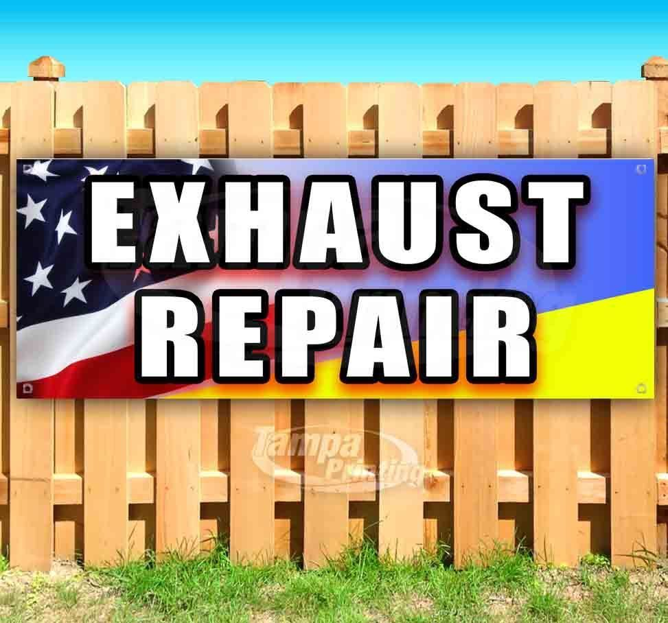 Primary image for EXHAUST REPAIR Advertising Vinyl Banner Flag Sign Many Sizes MECHANIC REPAIR