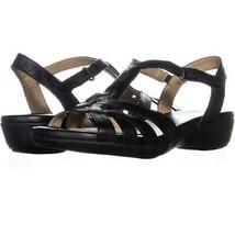 naturalizer Nella Ankle Strap Sandals 390, Black, 6.5 US / 36.5 EU - $28.78