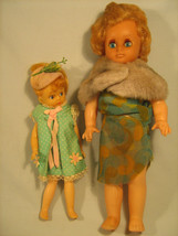 "[h4] 2 VINTAGE 11"" & 8"" DOLLS No 2618, Deluxe Reading Corp (Pat. Pending) - $11.97"