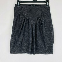 Zara Girls Size Medium Black Silver Sparkle Skirt - $19.80