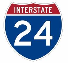 Interstate 24 Sticker Decal R895 Highway Sign - $1.45+
