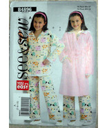 See and Sew B4896 Pattern Size 7-8-10 Girls Bathrobe PJ's Pajamas Housec... - $10.00