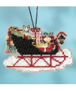 Vintage Sleigh 2017 Charmed Sleigh Ride Ornaments cross stitch kit  Mill... - $7.20