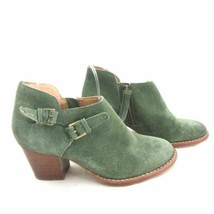 6.5 - Schuler & Sons Anthropologie Green Suede Ankle Boots Booties 0000MB image 2