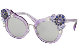 New Miu Miu Runway Jewel Smu 04S Purple Lilac Carbon Butterfly Sunglasses - $185.72