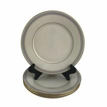 Lenox Biltmore Gold Blue Banded Fine Bone China Salad Plates Ivory USA 4... - $46.36