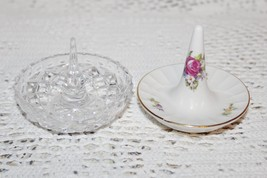 Lot of 2 Vintage Ring Holders, Ring Dishes, Bone China GDR and Gorham Le... - $45.00