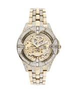 Elgin Men's Crystal Bezel Transparent Automatic Skeleton Watch, Gold FG9919 - $79.99
