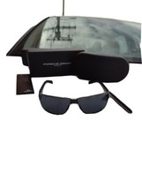 Porsche design p8509 B sunglasses black arm gold frame grey lenses - $222.70