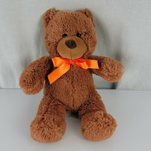 "Animal Adventure Sweet Sprouts Teddy Bear 12"" Brown Orange Bow 2016 Plush - $29.69"