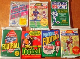 Over 100 Vintage NFL Football Card Collection in Old Sealed Wax Packs - ... - $13.99