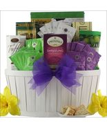 Afternoon Tea: Gourmet Tea White Purple Gift Basket Great Arrivals TAM - $73.49