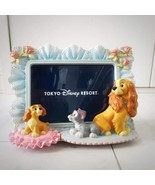 Tokyo Disney Resort Lady and the Tramp 3D figure Photo frame stand Ornam... - $97.02