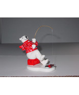 "1995 Enesco COCA COLA Ceramic POLAR BEAR ""ALWAYS ICE FISHING #157902 MAK... - $17.09"