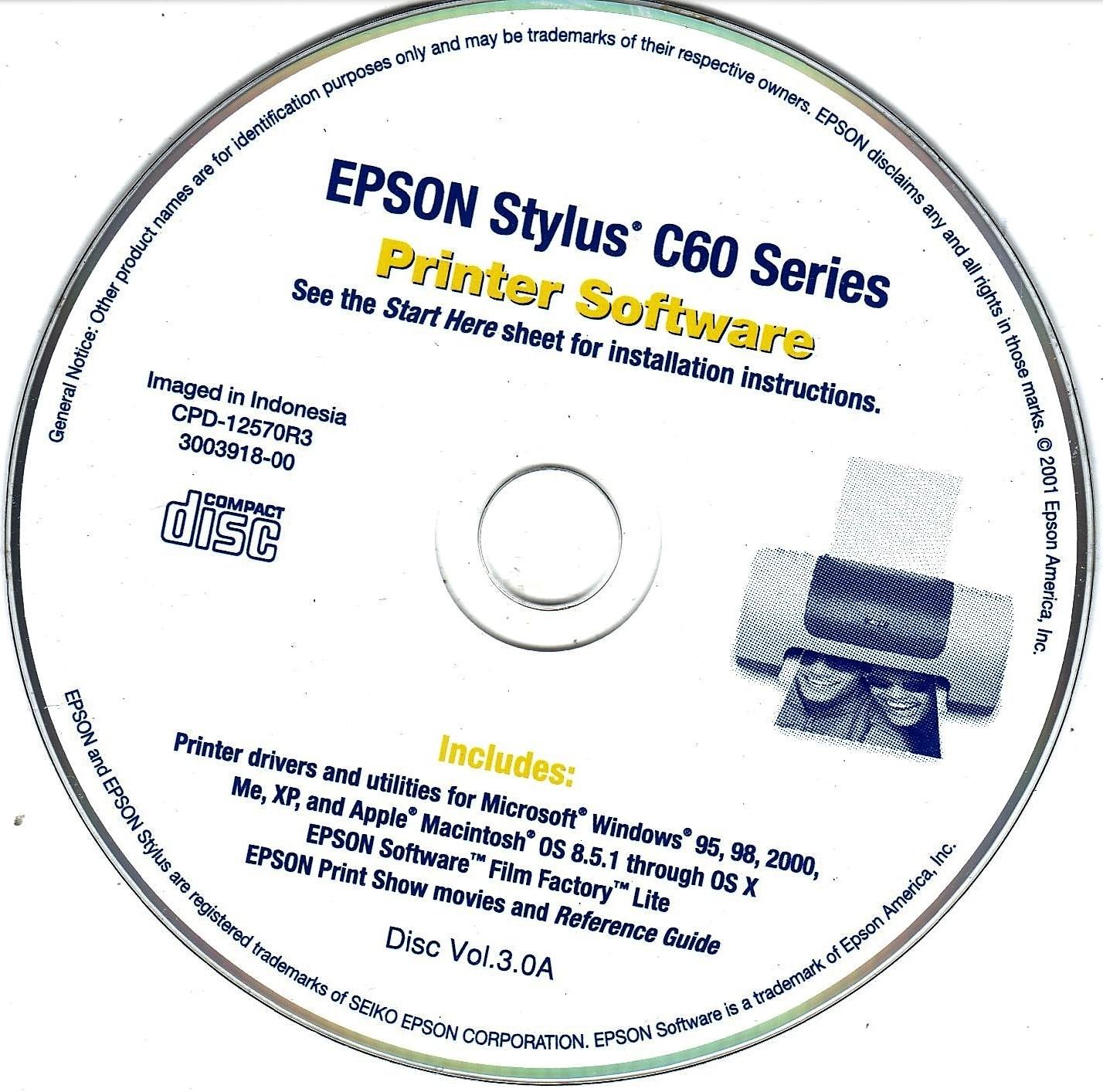 Epson Printer Software 740  C60, 850Ne, & 800