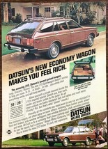 1979 Datsun 210 Sportwagon Print Ad Economy Wagon Makes You Feel Rich - $11.69