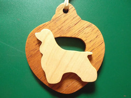White Cocker Spaniel Dog Ornament personalized with your dog's name - $12.00